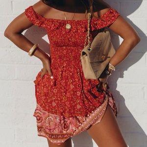 Dahlia Ra-Ra Spell & the Gypsy Mini Dress - Red